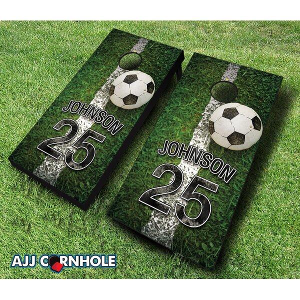 10 Piece Jersey Field Soccer Cornhole Set by AJJ Cornhole