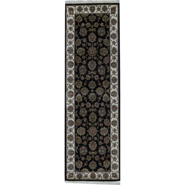 Crown Select Hand Knotted Wool Black/Brown/Cream Rug