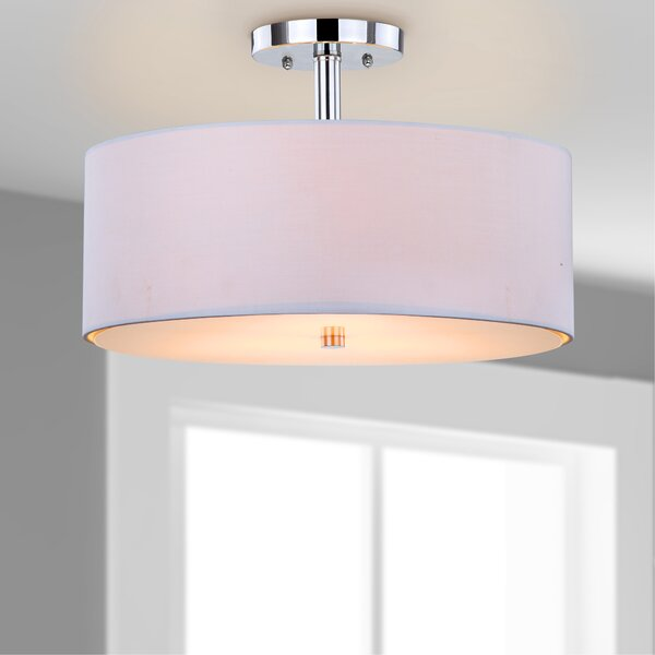 Clara 3-Light Semi Flush Mount by Safavieh