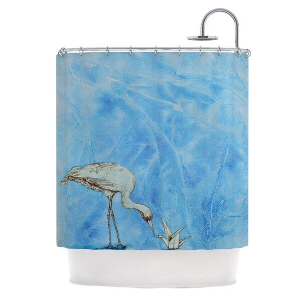 Crane Shower Curtain by KESS InHouse