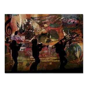 Jazz Trio' Framed Graphic Art on Wrapped Canvas by Ready2hangart