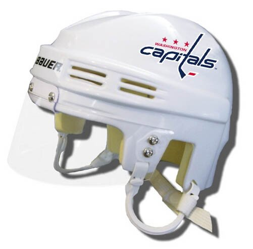 Official NHL Licensed Mini Player Helmets - Washington Capitals (White) by Bauer