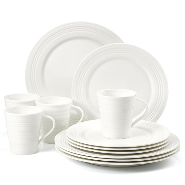 Tin Can Alley Four Degree 12 Piece Dinnerware Set, Service for 4 by Lenox