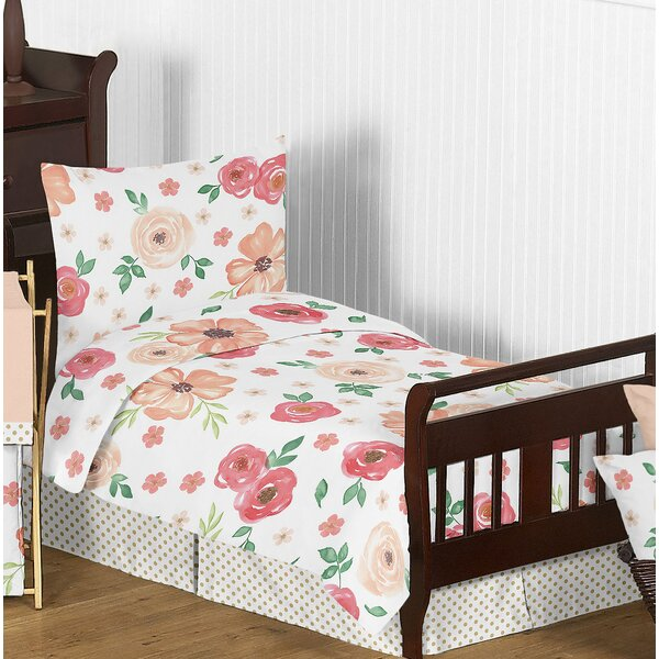 Watercolor Floral 5 Piece Toddler Bedding Set by Sweet Jojo Designs