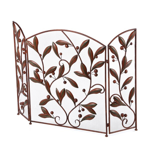 Kennamer 3 Panel Metal Fireplace Screen By Charlton Home
