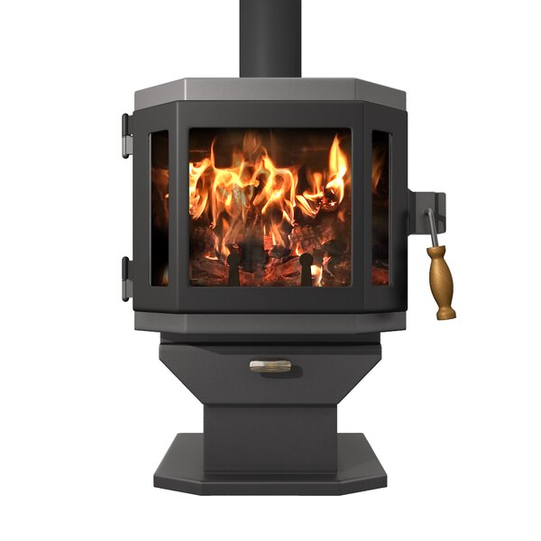 Bryanne 2000 Sq. Ft. Direct Vent Wood Stove By Red Barrel Studio