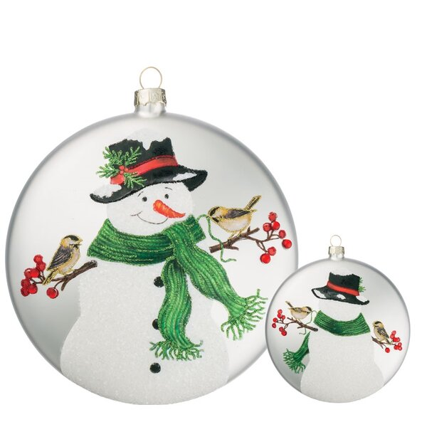 Snowman with Scarf Disc Ornament (Set of 6) by The Holiday Aisle