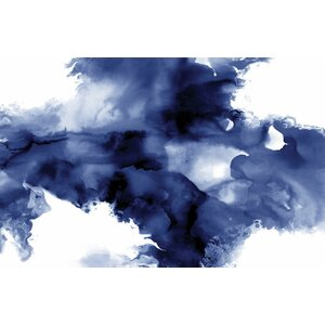 'Derive in Indigo I' Painting Print on Wrapped Canvas by Zipcode Design
