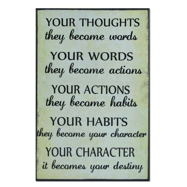 Your Thoughts Textual Art Plaque by African American Expressions