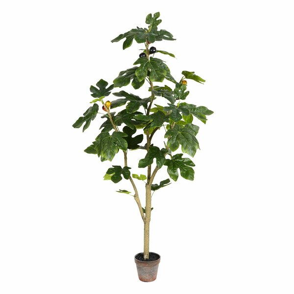 Artificial Potted Fig Floor Foliage Tree in Pot by Bay Isle Home