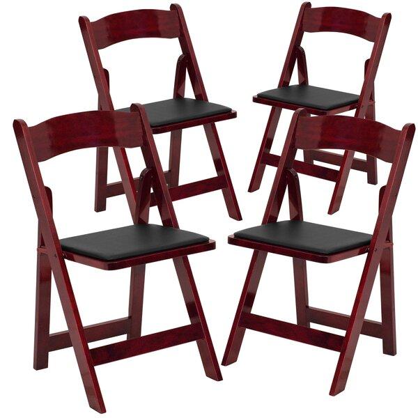 Laduke Vinyl Padded Folding Chair (Set of 4) by Symple Stuff
