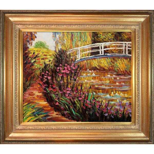 The Japanese Bridge by Claude Monet Framed Painting by Tori Home