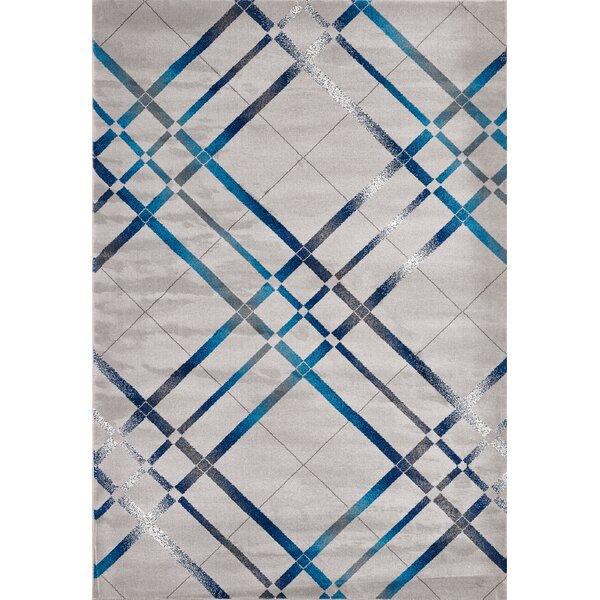 Segma Venice Light Blue/Dark Blue/Cream Area Rug U0026 Reviews | Wayfair