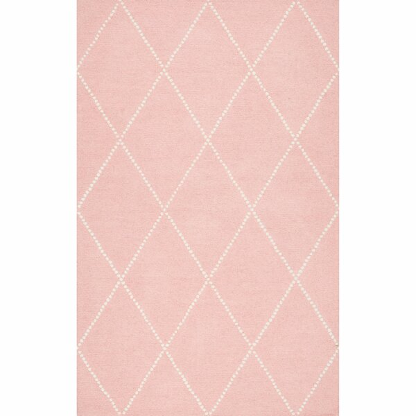 Nat Diamond Hand-Tufted Baby Pink Area Rug by Viv + Rae