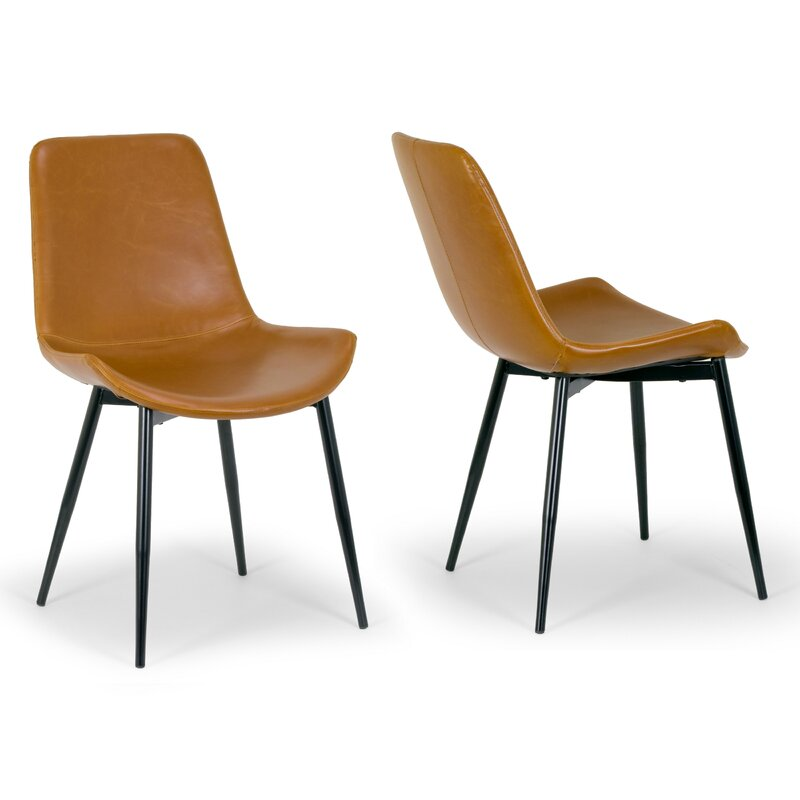 Gentil Alary Faux Leather Modern Side Chair