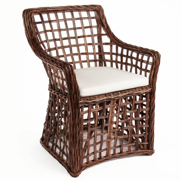 Portsmouth Open Weave Arm Chair by Bay Isle Home