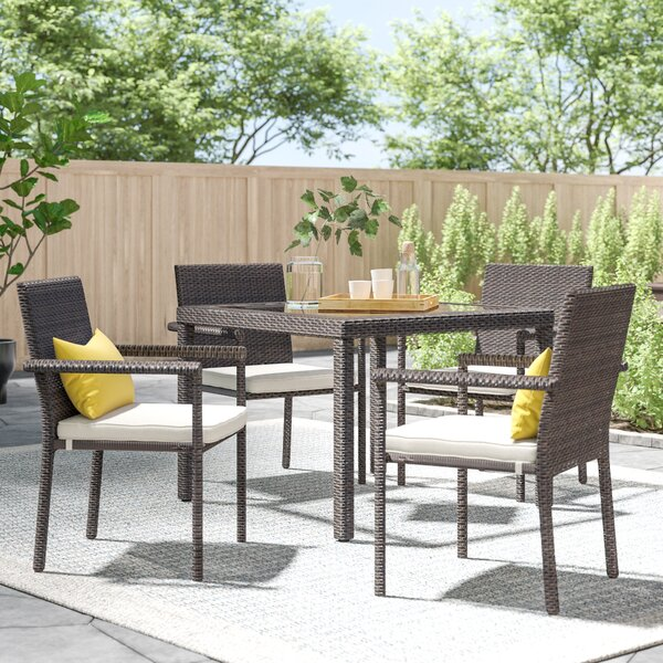 Brooklet 5 Piece Dining Set With Cushions By Zipcode Design