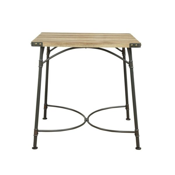 Calvo Industrial Square Shaped Counter Height Solid Wood Dining Table by Williston Forge