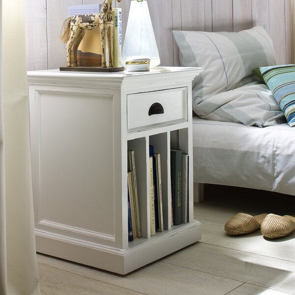 Amityville 1 Drawer Nightstand by Beachcrest Home Beachcrest Home