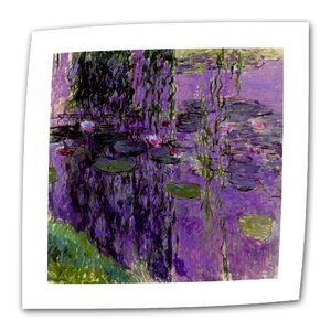 Lavender Water Lillies by Claude Monet Print of Painting on Rolled Canvas by ArtWall