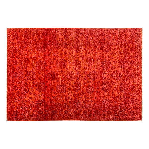 One-of-a-Kind Eclectic Hand-Knotted Orange Area Rug by Darya Rugs