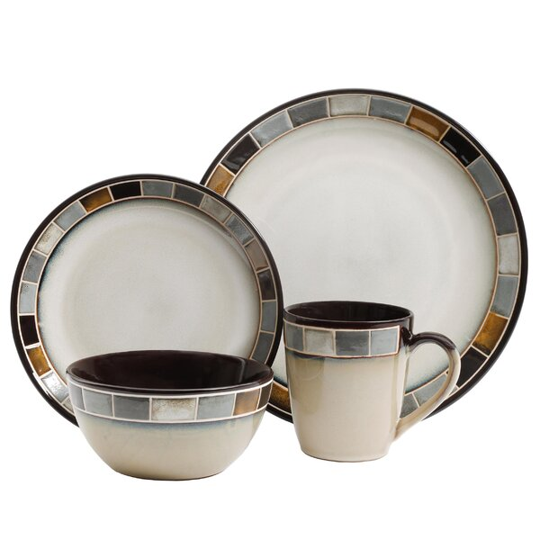 Mauzy 16 Piece Dinnerware Set, Service for 4 by Bloomsbury Market