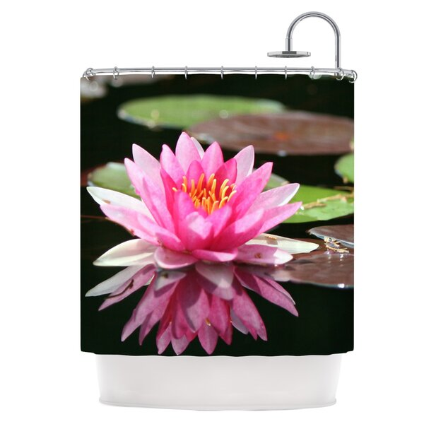 Water Lily Shower Curtain by East Urban Home