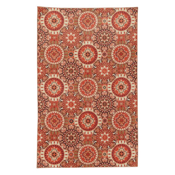 Amblewood Red/Rust Orange Area Rug by Bungalow Rose