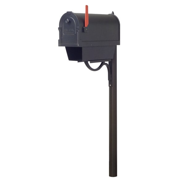 Savannah Curbside Mailbox with Paper Tube and Richland Mailbox Post by Special Lite Products