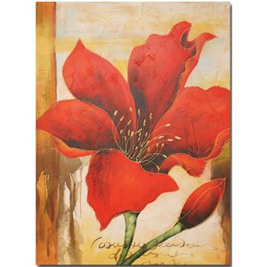 Flower Painting on Wrapped Canvas by Quest Products Inc
