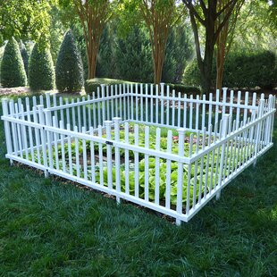 Pet Or Garden Vinyl Enclosure Picket Fence With Gate. By Zippity Outdoor  Products