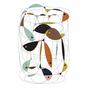 Fishing Net Graphic Art on Wrapped Canvas by Langley Street