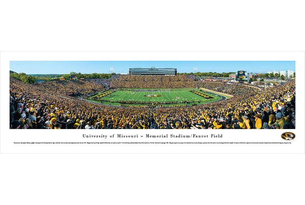 NCAA Missouri, University of - 50 Yard Line Day by James Blakeway Photographic Print by Blakeway Worldwide Panoramas, Inc