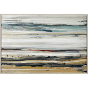 Color Swathe Framed Painting Print on Canvas by Wade Logan