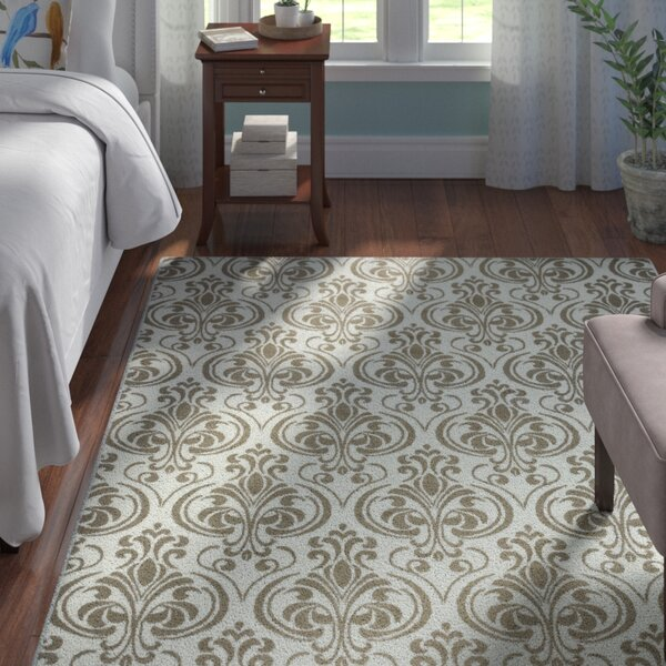 Peggie Ivory Damask Indoor/Outdoor Area Rug by Astoria Grand