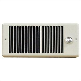 Low Profile 2,000 Watt Wall Insert Electric Fan Heater by TPI