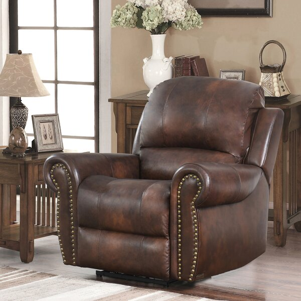 Scottie Leather Manual Recliner by Canora Grey