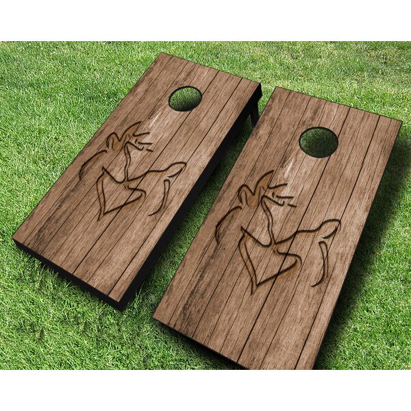 Deer Heart Cornhole Set by AJJ Cornhole