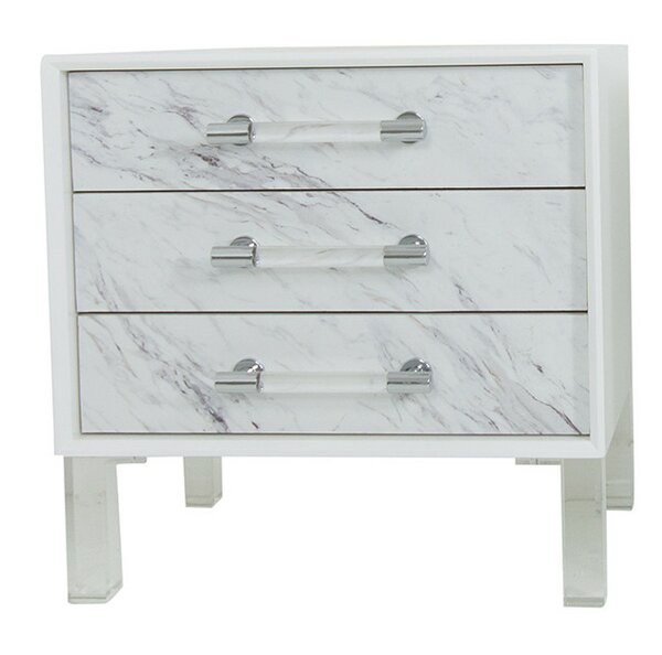 Carrera End Table with Storage by ModShop ModShop