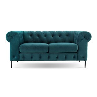 Kohl Tufted Chesterfield Loveseat by House of Hampton