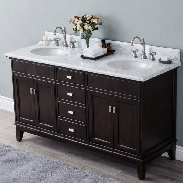 Hyslop 60 Double Bathroom Vanity Set by Latitude Run