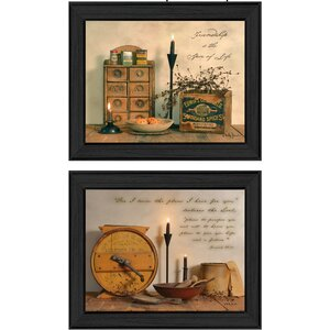 'Friendship is the Spice of Life' 2 Piece Framed Graphic Art Print Set by Trendy Decor 4U