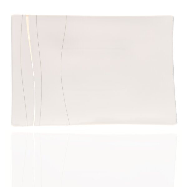 Odett Platinum Rectangular Bone China Platter by Red Vanilla
