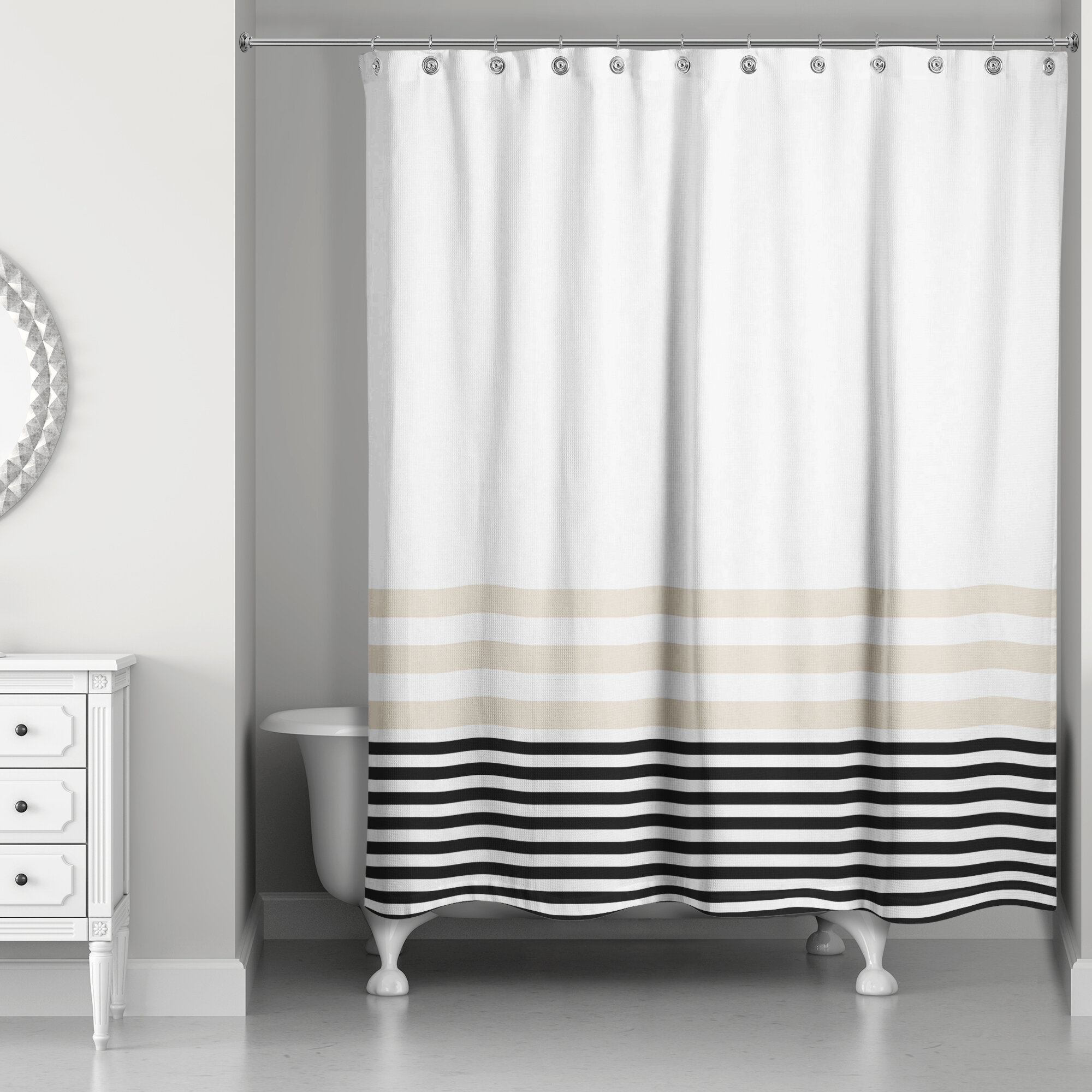 Qu Stripes Single Shower Curtain
