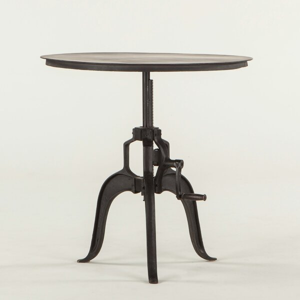 Hackett Adjustable Metal End Table by Williston Forge