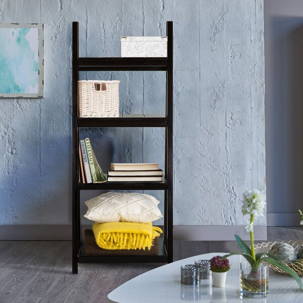 Kacie Slatted 4-Shelf Folding Ladder Bookcase by Gracie Oaks