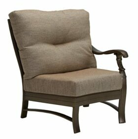 Ravello Left Side Crescent Module Patio Chair with Cushions by Tropitone