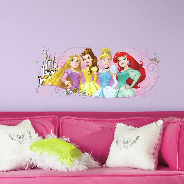 Disney Princess Friendship Adventures Peel and Stick Giant Wall Decal by Room Mates