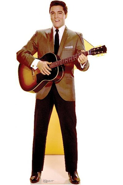 Elvis Presley Sportscoat Guitar Cardboard Stand-Up by Advanced Graphics