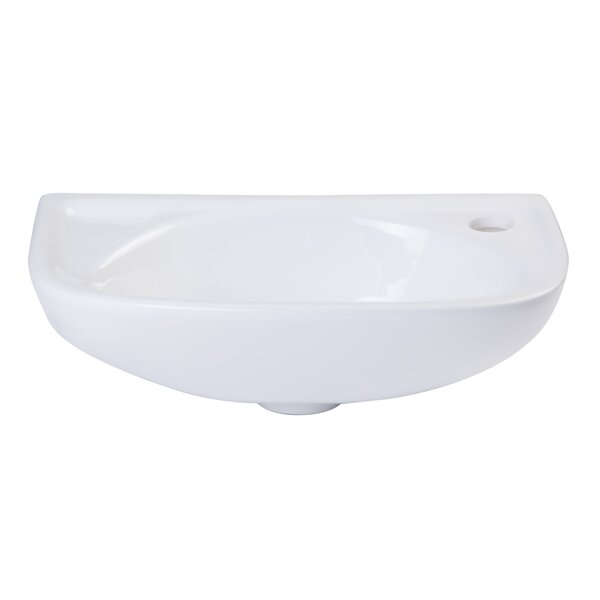 Ceramic 17 Wall Mount Bathroom Sink by Alfi Brand